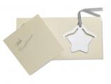 platerowana stalowa zakładka do książki + kartka na wpisanie życzeń, art.CX1285