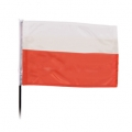 Flaga na drewnianym kiju art07777