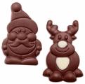 czekoladowy mikołaj lub renifer