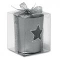 szklany srebrny świecznik, art.14MB20
