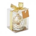 szklany świecznik złoty, art.14MB28