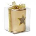 szklany złoty świecznik, art.14MB20