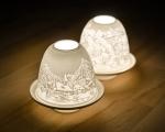 świecznik z porcelany 2 motywy 21BC017
