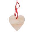 drewniana zawieszka serce, art.93MB76